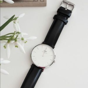 Daniel Wellington Black Leather Watch
